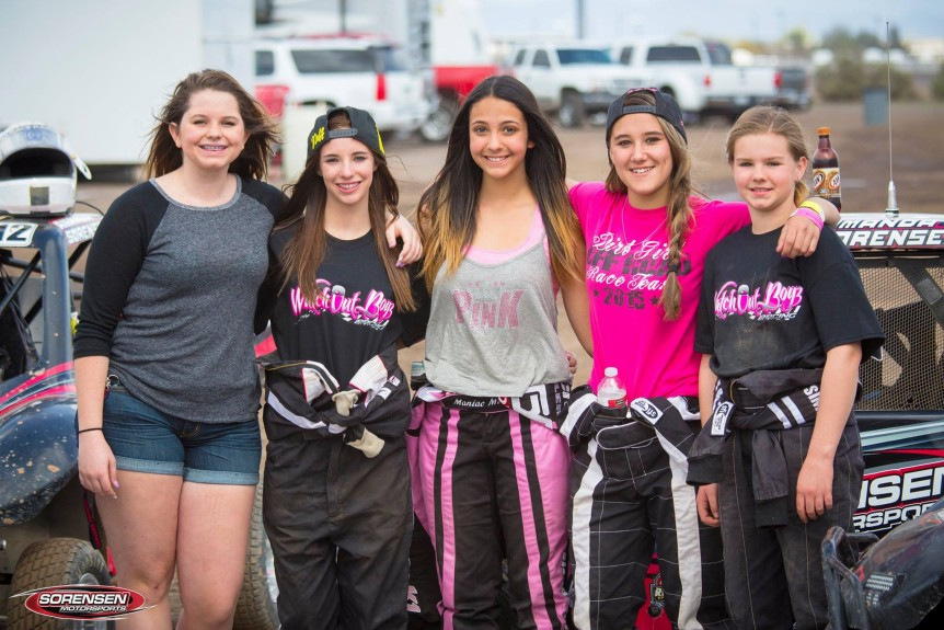 Amanda sorensen with female mod kart racers