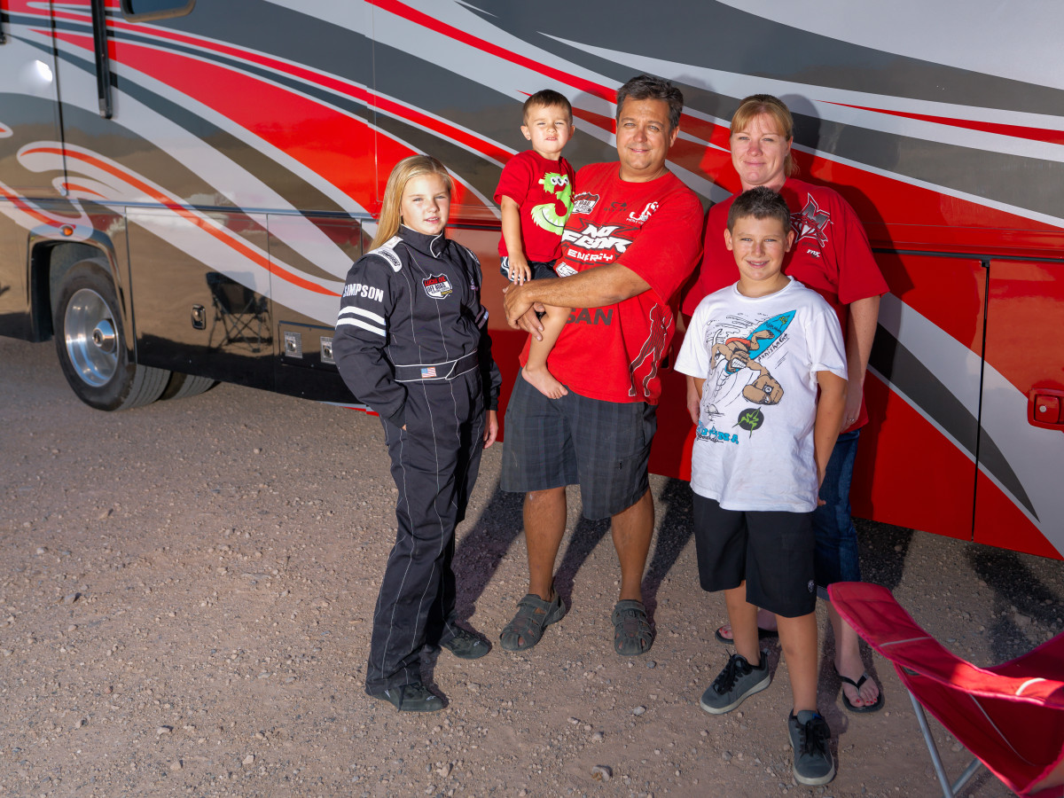 sorensen motorsports family photo