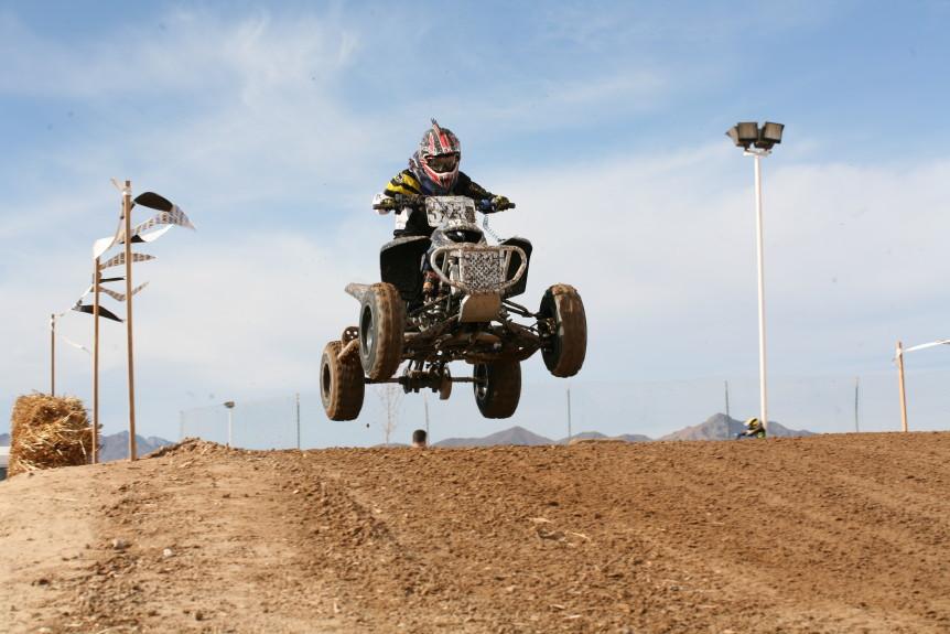branden sorensen jumping quad at worcs race