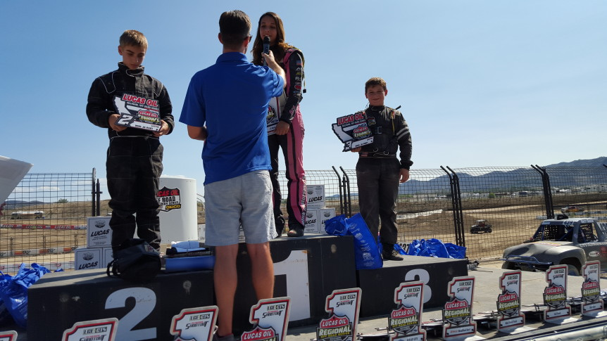 branden sorensen places third in lucas oil mod kart race