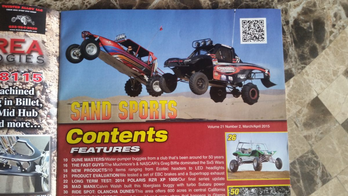 Sorensen motorsports in Sand Sports magazine