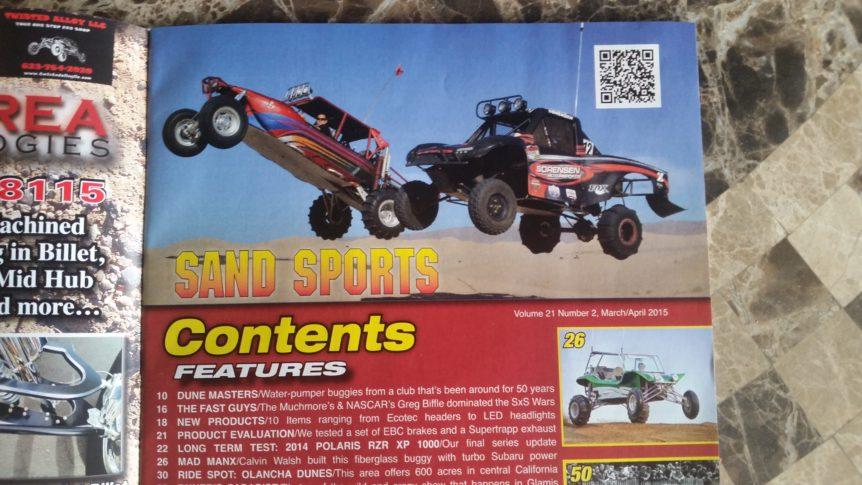 Sorensen motorsports in Sand Sports magazine