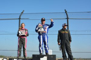amanda sorensen places second in lucas oil race